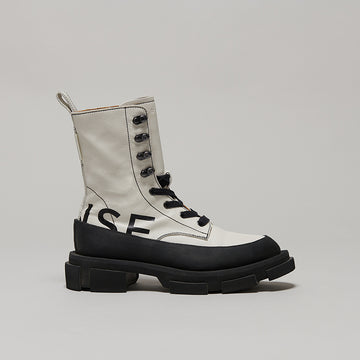 both X MONSE GAO HIGH BOOTS-BLACK/WHITE