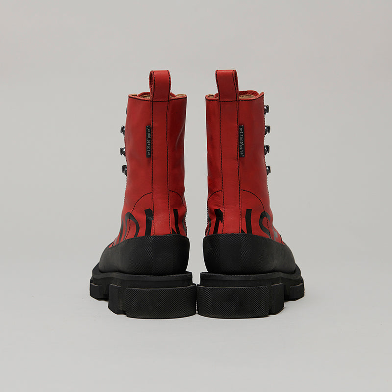 both X MONSE GAO HIGH BOOTS-BLACK/RED