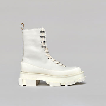 both - GAO PLATFORM HIGH BOOTS-WHITE/WHITE GLOW