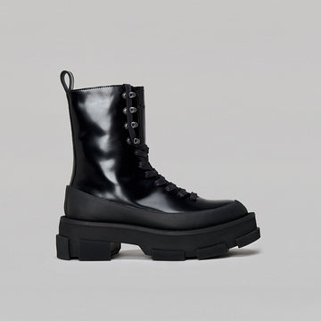 both - GAO PLATFORM HIGH BOOTS-SPAZZOLATO BLACK