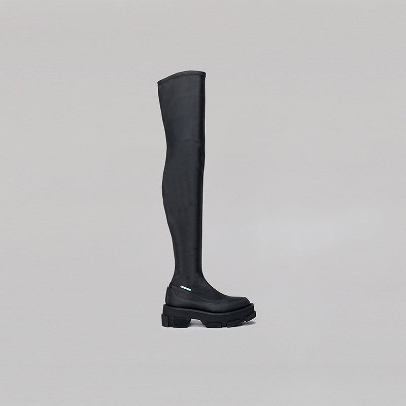 both - GAO PLATFORM THIGH HIGH-BLACK