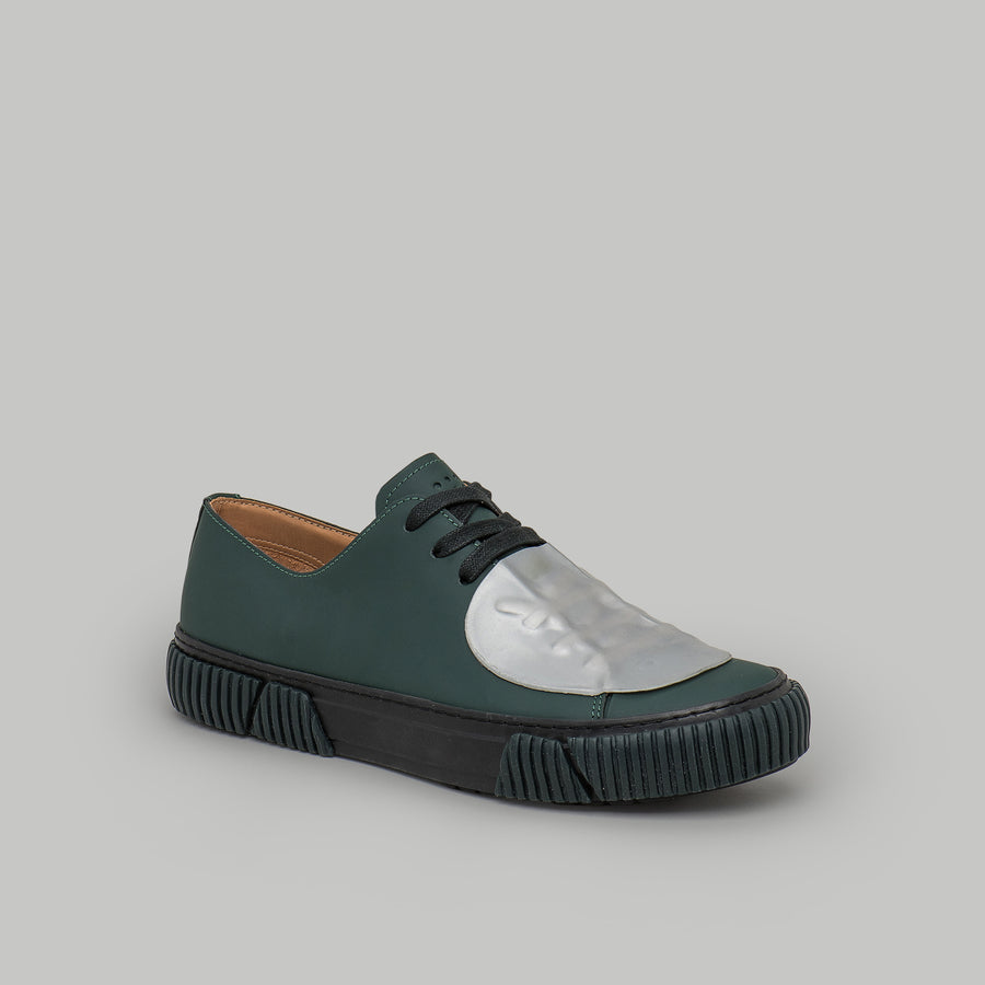 both - GUM PATCH LOW TOP-M-DARK GREEN/SILVER
