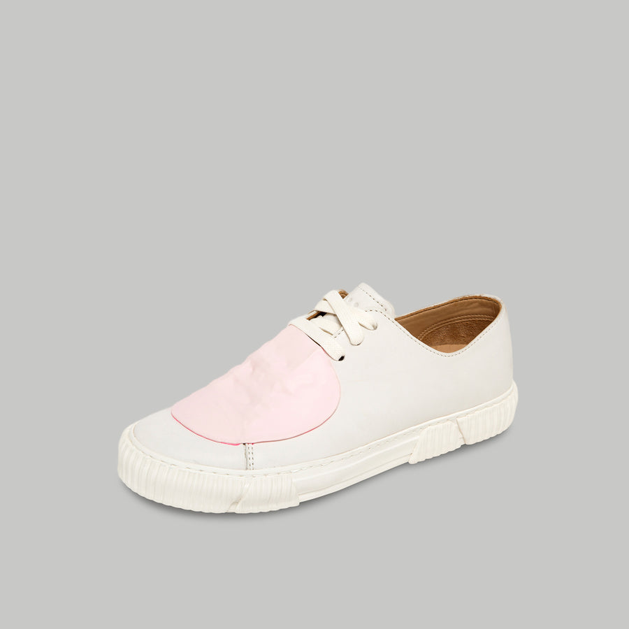 both - GUM PATCH LOW TOP -WHITE/PINK
