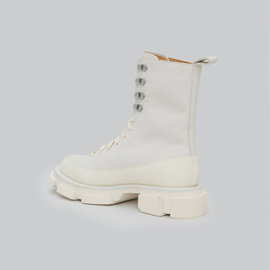 both - GAO HIGH BOOT-WHITE