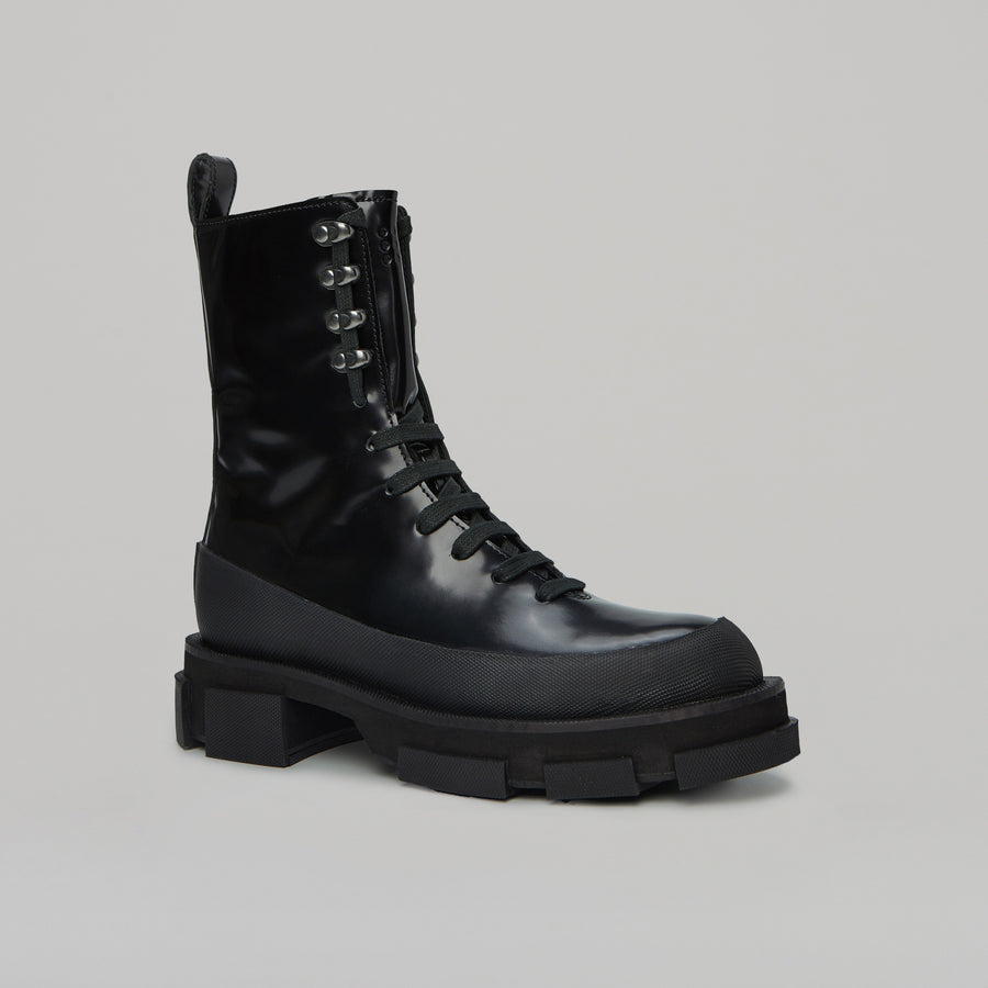both - GAO HIGH BOOT-SPAZZOLATO BLACK