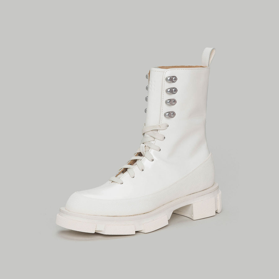both - GAO HIGH BOOT-SPAZZOLATO WHITE