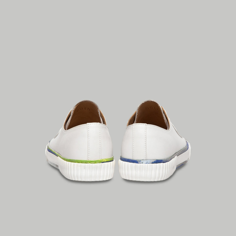 both - GUM PATCH STRIPED LOW-WHITE/BLUE