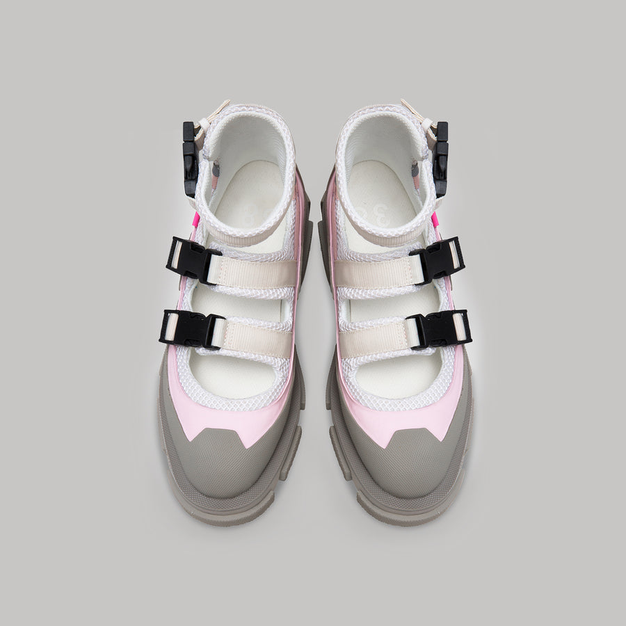 both - GAO SANDAL-WHITE/GREY/PINK
