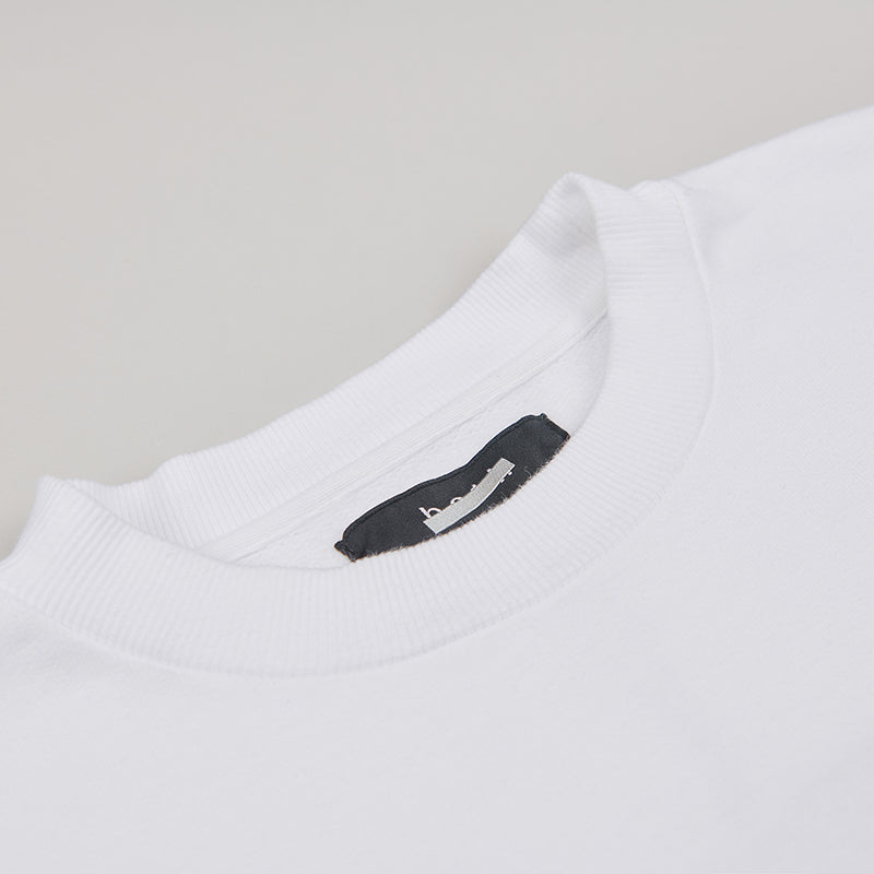 both X SECOND LAYER-CREWNECK SWEATSHIRT-WHITE