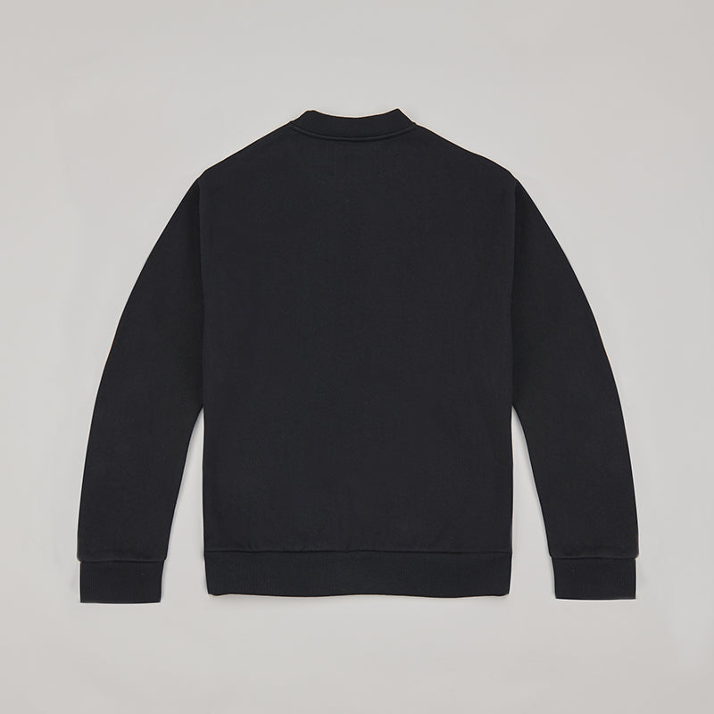 both X SECOND LAYER-CREWNECK SWEATSHIRT-BLACK