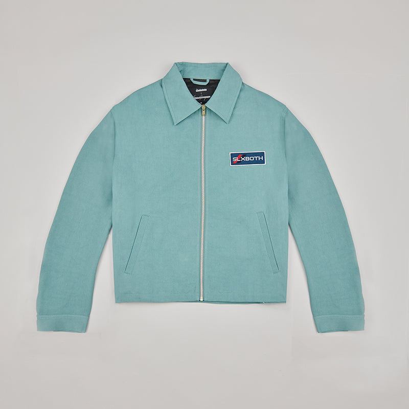 both X SECOND LAYER-LS BLOUSON-ARCTIC BLUE