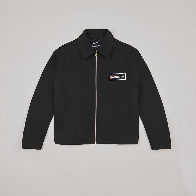 both X SECOND LAYER-LS BLOUSON-BLACK