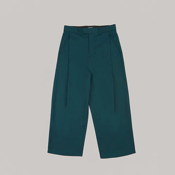 both X SECOND LAYER-WIDE PLEATED PANTS-ARCTIC BLUE