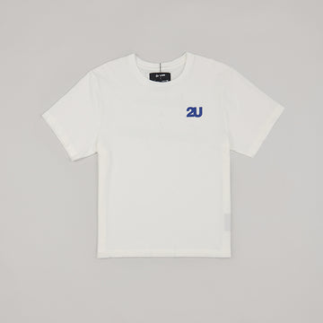 both X SECOND LAYER-CREWNECK LOGO TEE-WHITE