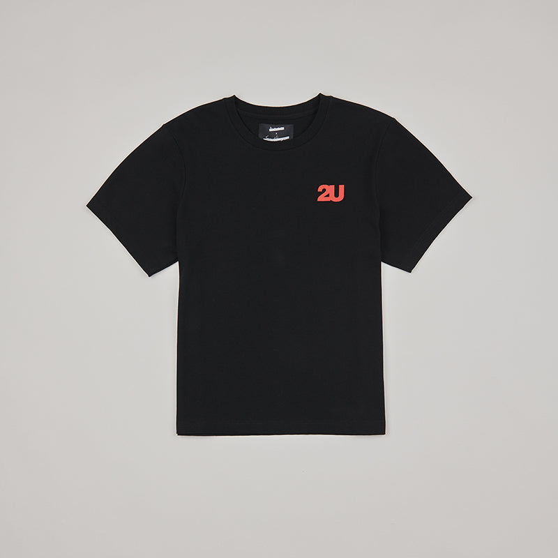 both X SECOND LAYER-CREWNECK LOGO TEE-BLACK