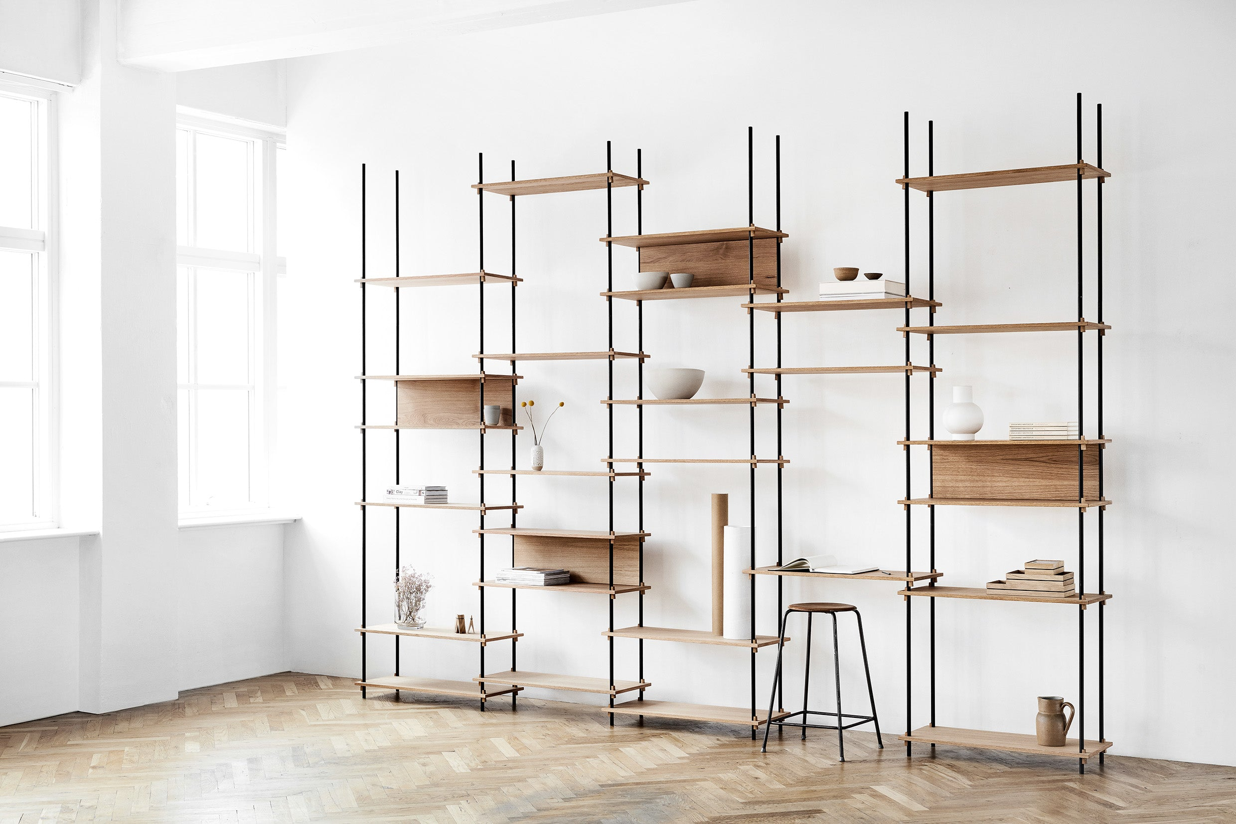 Shelving system - low double bay
