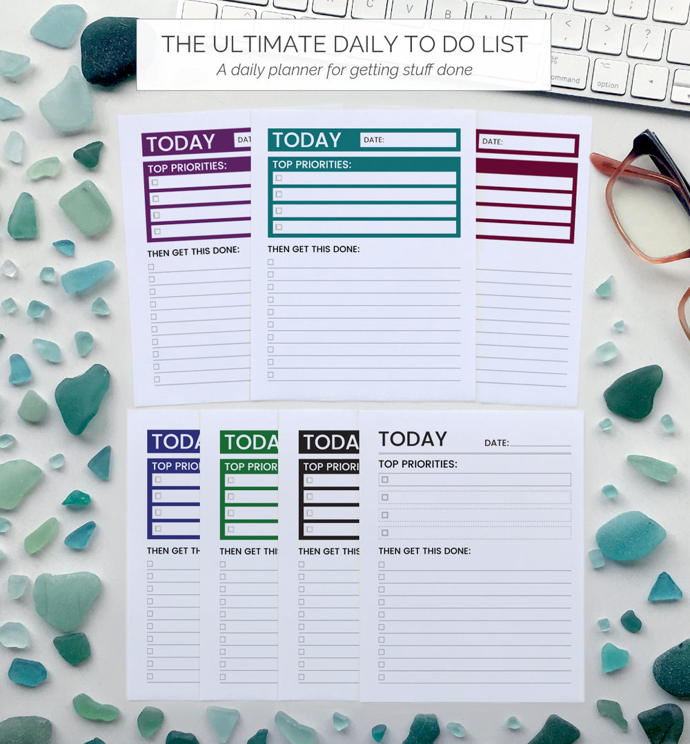 Productivity Planners - THE ULTIMATE DAILY TO DO LIST
