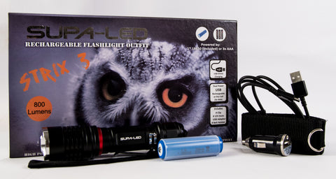 SupaLED Strix3 Rechargeable Torch
