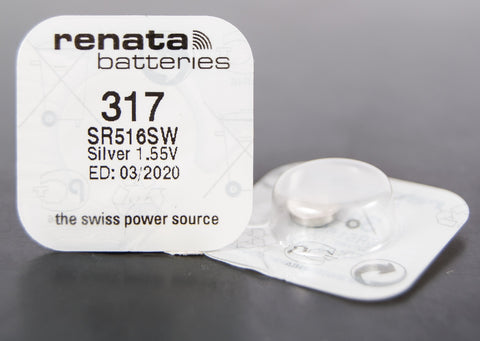317 1.5V Renata Button Cell