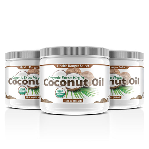Organic Extra Virgin Coconut Oil 14 oz (3-Pack)