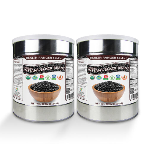 Organic Instant Black Beans 40oz (#10 Can, 1134g) (2-Pack)