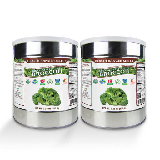 Freeze-Dried Organic Broccoli 5.29oz (#10 Can, 150g) (2-Pack)