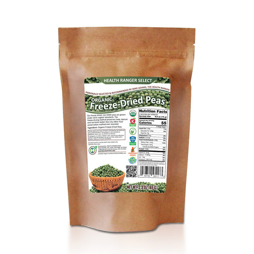 Freeze Dried Organic Peas 2.3 oz (65 g)