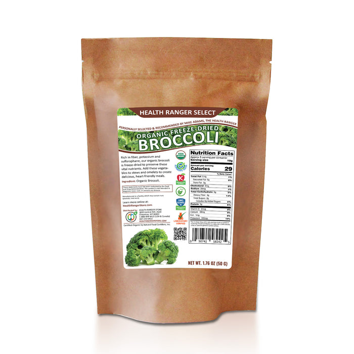 Freeze-Dried Organic Broccoli 1.76oz (50g)