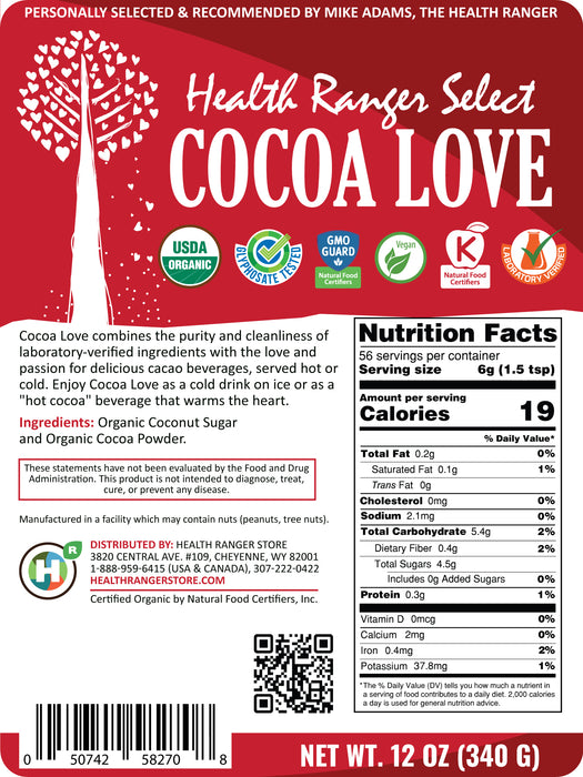 Health Ranger Select Organic Cocoa Love 12oz