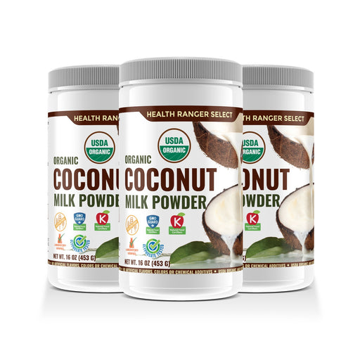 100% Organic Coconut Milk Powder 16oz (453g) (3-Pack)