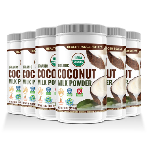 100% Organic Coconut Milk Powder 16oz (453g) (6-Pack)