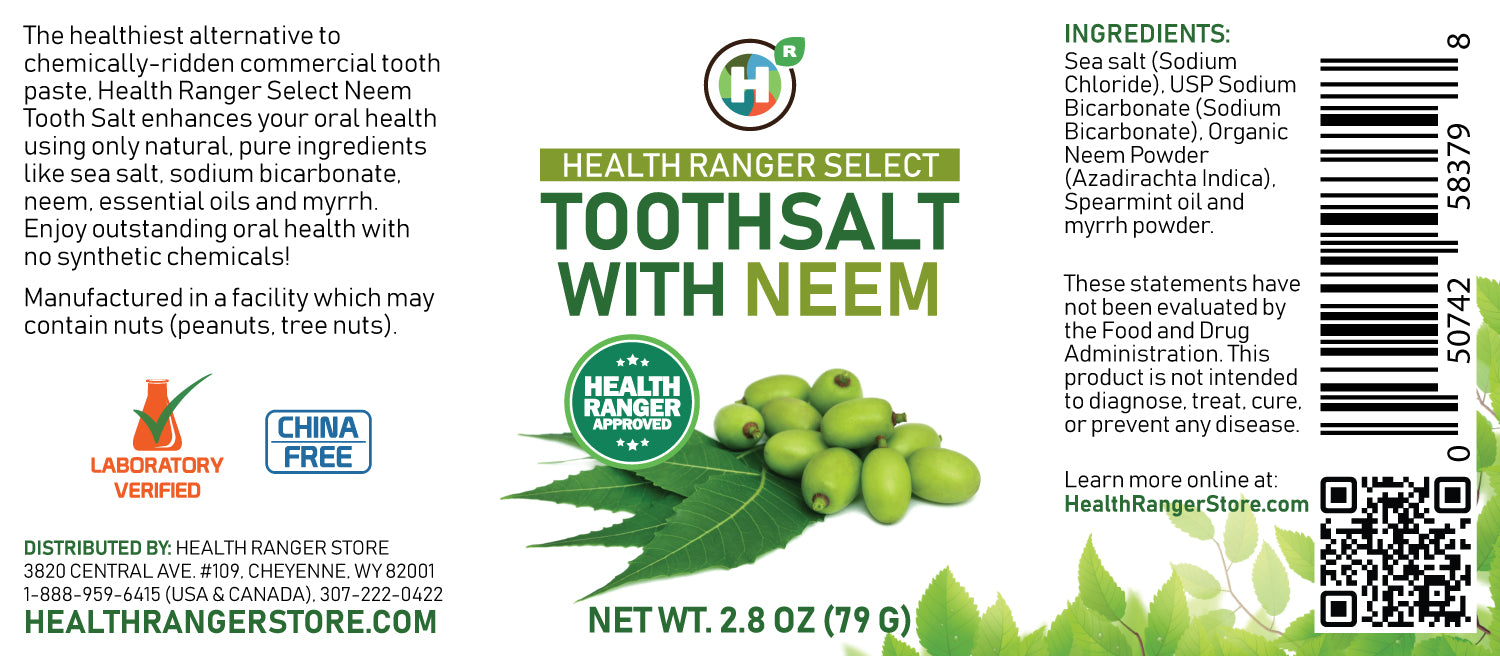 Health Ranger Select Toothsalt with Neem 2.8oz (79g) (6-packs)