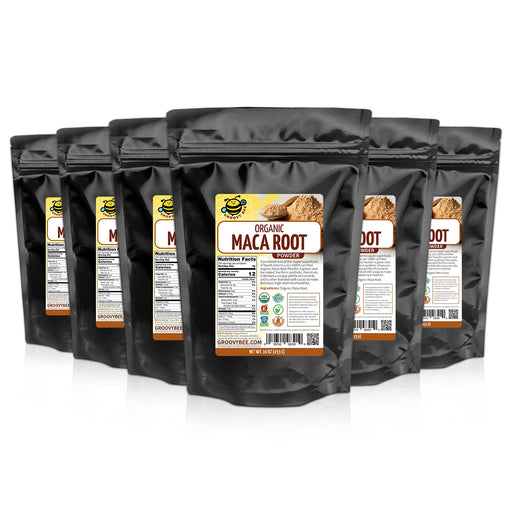 Groovy Bee® Organic Maca Root Powder 16oz (453g) (6-Pack)