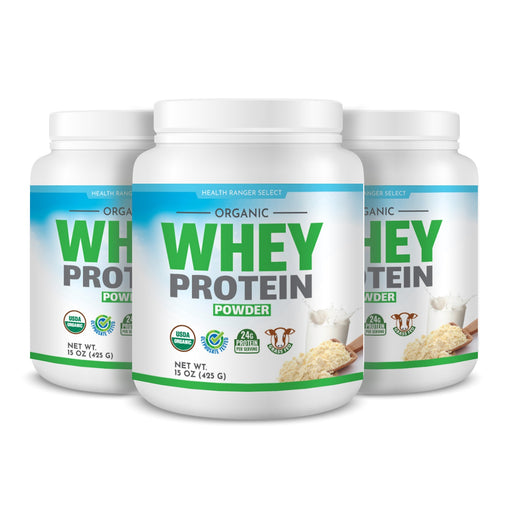 Organic Whey Protein Powder 15 oz (425g) (3-Pack)