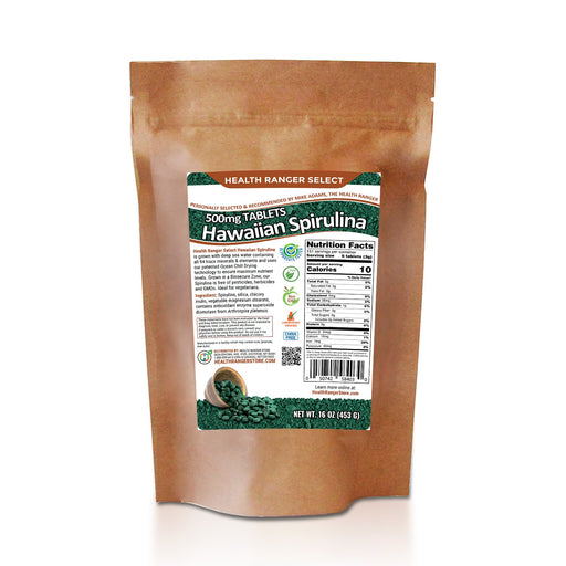 Hawaiian Spirulina Cold Pressed 500mg Tablets 16 oz (453g)