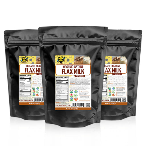 Groovy Bee® Organic Flax Milk Powder 24 oz (680g) (3-Pack)