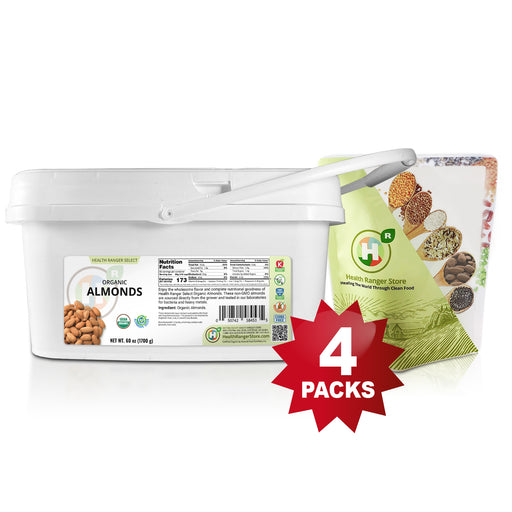 Mini-Bucket Organic Almonds 60oz (1700g)