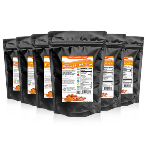 Organic Turmeric Root Powder 14oz (396g) (6-Pack)