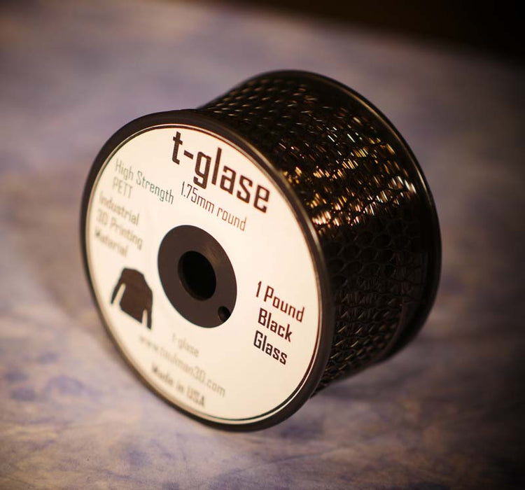 1.75mm t-glase filament for 3D printing- Black (1LB)