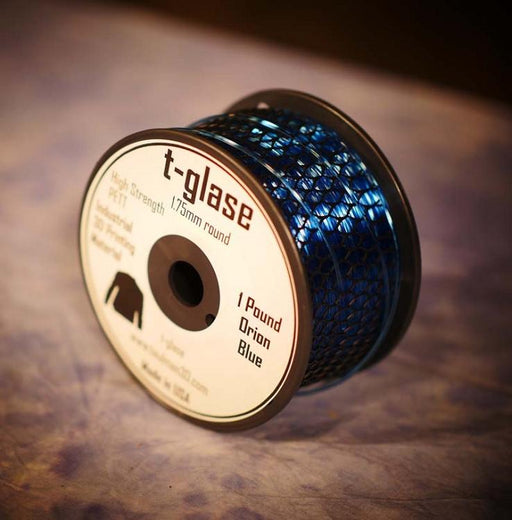 1.75mm t-glase filament for 3D printing- Blue (1LB)