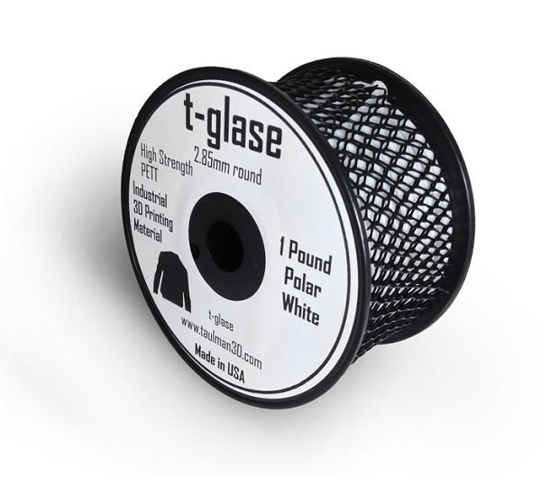 2.85 mm t-glase filament for 3D printing- White (1LB)