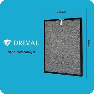 Dreval HEPA and UV Air Purifier Replacement Filters - Set of 4 (2 double-sided)