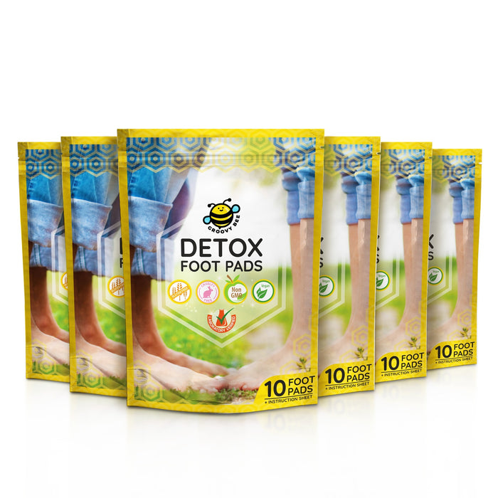Groovy Bee® Detox Foot Pads (10 Pads/Box) (6-Pack)