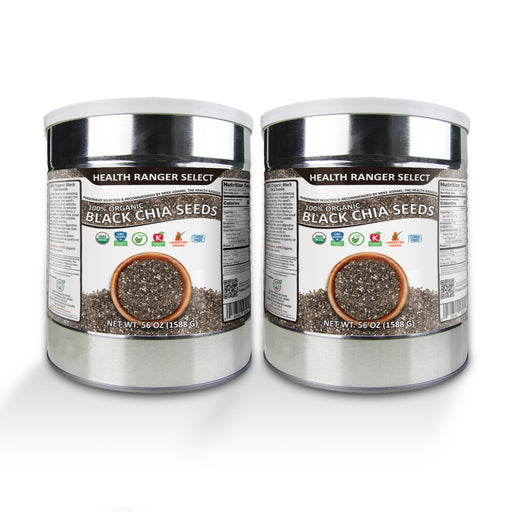 100 % Organic Black Chia Seeds - 56 oz, #10 can (2-Pack)