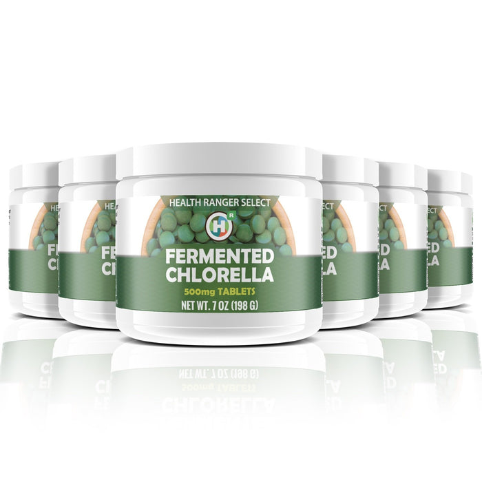 Fermented Chlorella tablets 500mg Tabs 7oz (198g) (6-Pack)