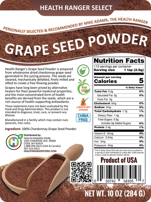Grape Seed Powder 10oz (284g)