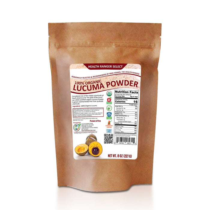 100% Organic Lucuma Powder 8oz (227g) (3-Pack)