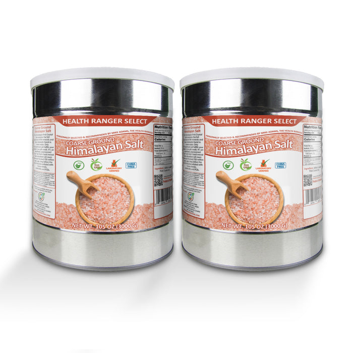 Himalayan Salt Coarse Ground 3kg (6.6lbs) (#10 Can) (2-Pack)