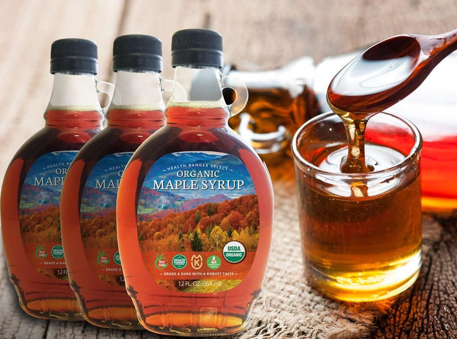 Premium Organic Maple Syrup 12oz - Grade A (355ml) (3-Pack)
