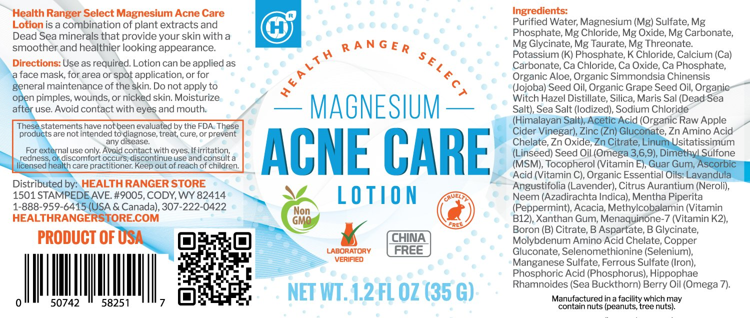 Magnesium Acne Care Lotion 1.2 fl oz (35g) (6-Pack)